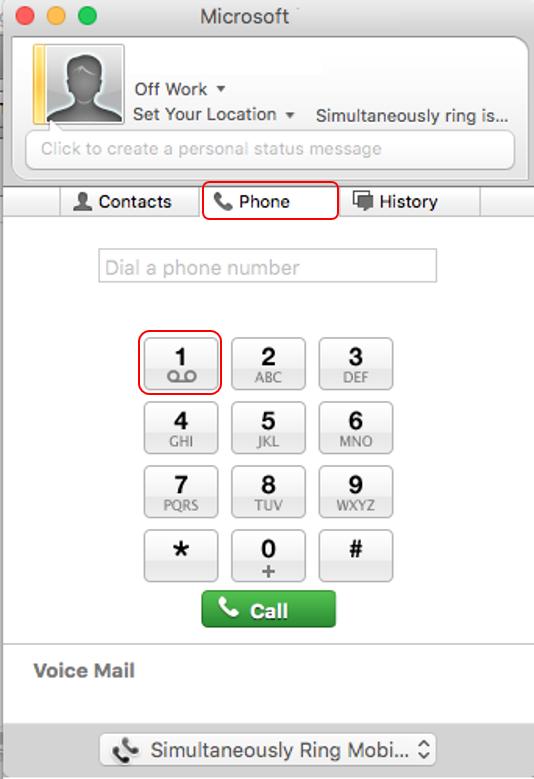Mac phone voicemail